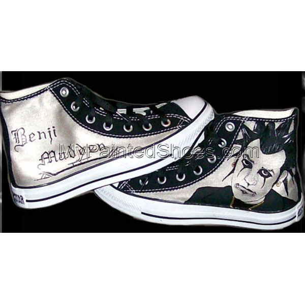Good Charlotte's Benji Madden High-top Painted Canvas Shoes
