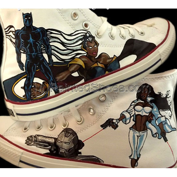 Black Avengers Custom Sneakers