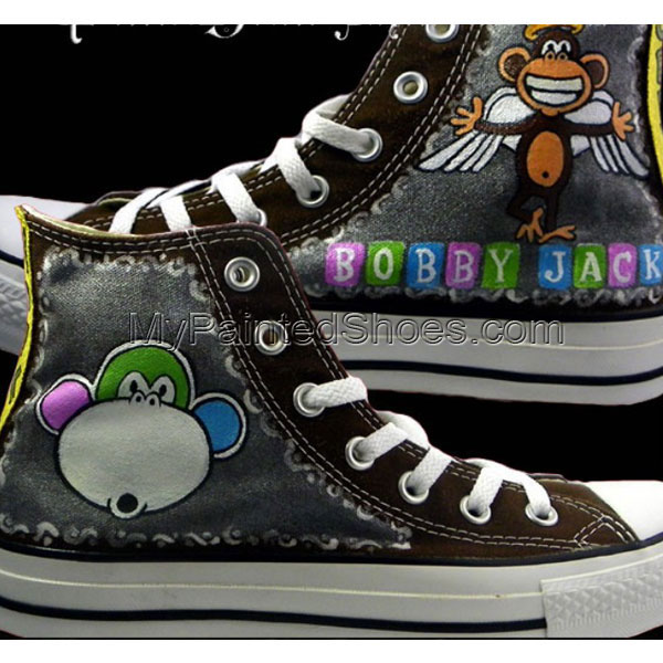 Bobby Jack Custom Sneakers High-top Painted Canvas Shoes
