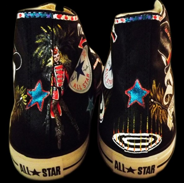 Custom Sneakers Britney Spears High-top Painted Canvas Shoes-2