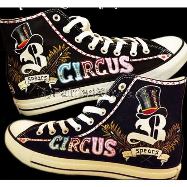 Custom Sneakers Britney Spears High-top Painted Canvas Shoes