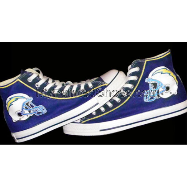 Custom Sneakers San Diego Chargers High-top Painted Canvas Shoes