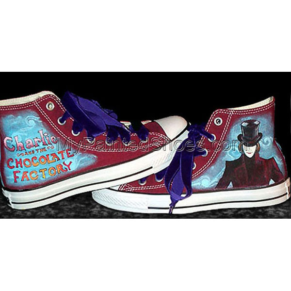 Custom Sneakers Charlie & the Chocolate Factory High-top Painted