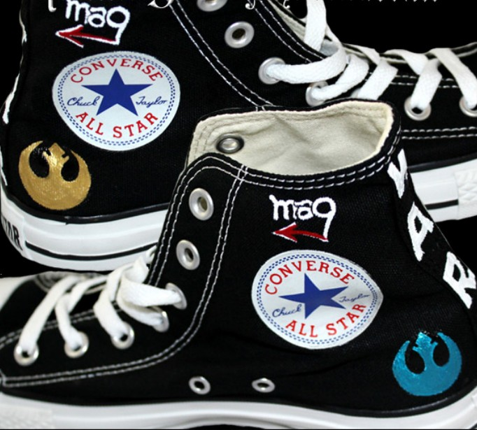 Star Wars Custom Sneakers Custom High-top Painted Canvas Shoes-3