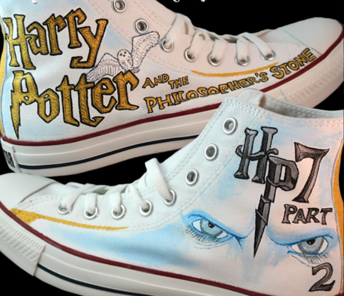 Harry Potter and the Philosopher's Stone Part 2 Custom Sneaker-1