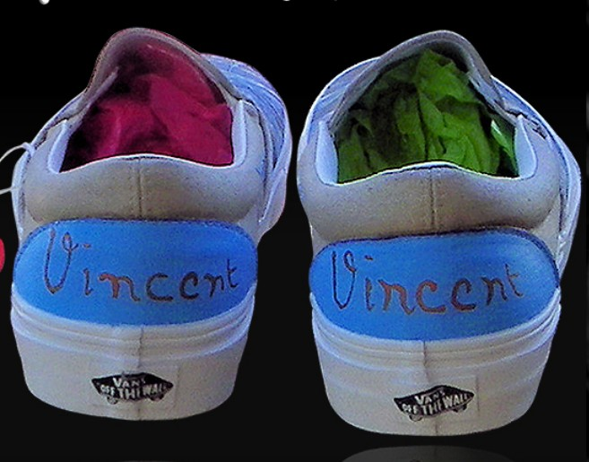 Vincent Van Gogh Custom Painted Slip-on Painted Canvas Shoes-2