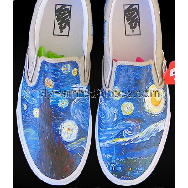 Vincent Van Gogh Custom Painted Slip-on Painted Canvas Shoes