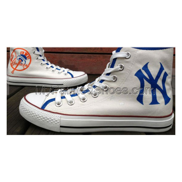 New York Yankees Shoes Custom High-top Painted Canvas Shoes
