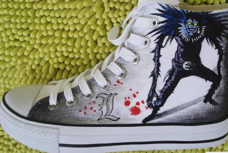 Death Note Shoes Ryuuzaki and Ryuuku Canvas Sneakers for Death N-2