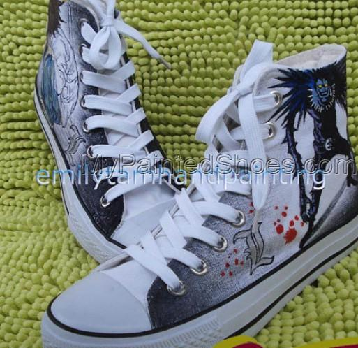 Death Note Shoes Ryuuzaki and Ryuuku Canvas Sneakers for Death N-3