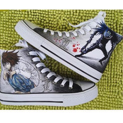 Death Note Shoes Ryuuzaki and Ryuuku Canvas Sneakers for Death N