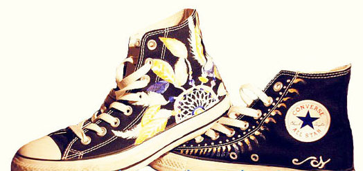 Dreamcatcher Sneakers Dream Catcher Customizing High-top Painted-1