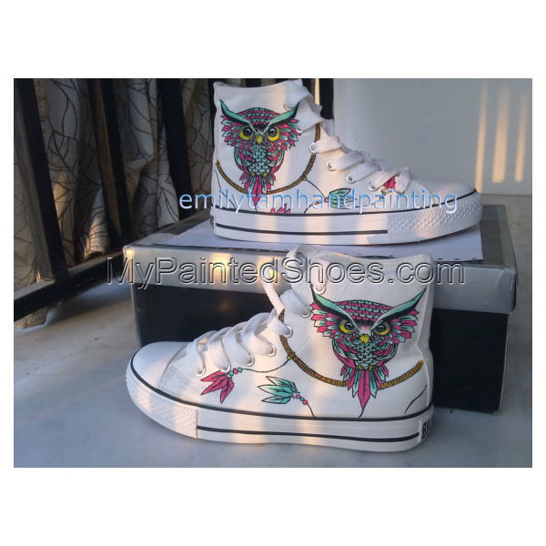 Dreamcatcher Sneakers with Owl-Custom Shoes Owl and Dreamcatcher