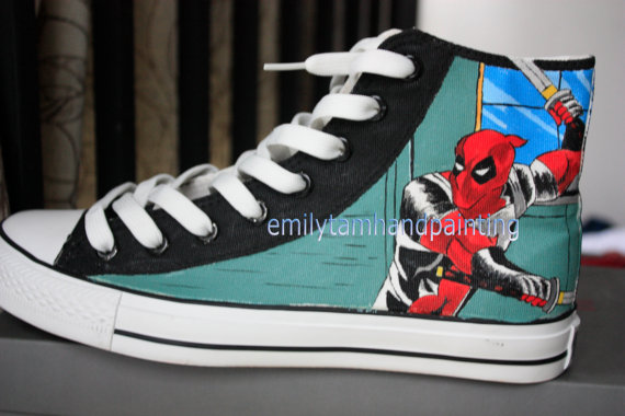 Anime Custom Sneakers Anime Hand Painted Shoes-3