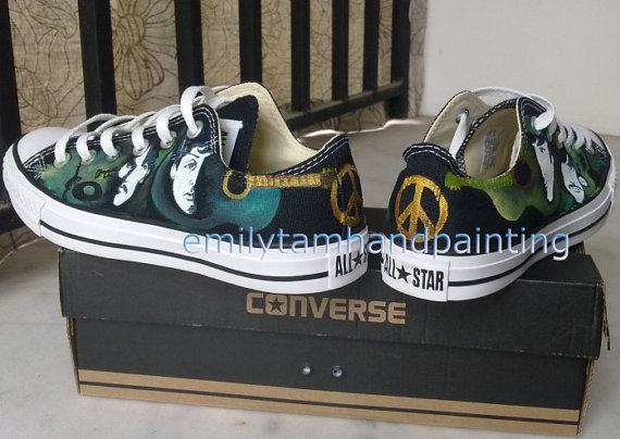 The Beatles Sneakers Low Top Sneaker Custom Beatles Inspired Pai-2