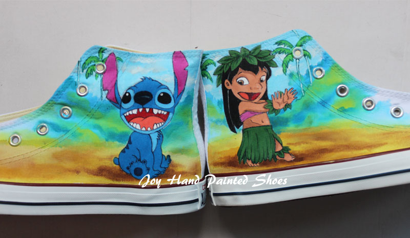Custom Sneakers Customize Anime Hand Painted Shoes-3