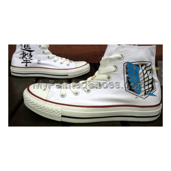 Attack On Titan Anime Shoes Attack On Titan High-top Painted Can