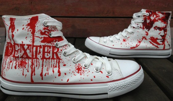 Dare You To wear Them! Dexter Shoes Dexter Morgan Hand Painted S-2