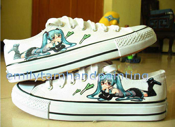 Vocaloid Hatsune Miku Shoes Custom Shoes-Hand Paint Low Top Shoe-3