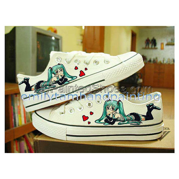 Vocaloid Hatsune Miku Shoes Custom Shoes-Hand Paint Low Top Shoe
