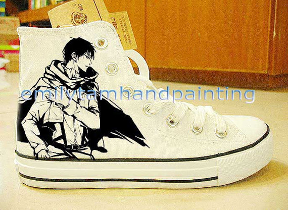 Attach on Titan Shoes Hand Paint Shoes Anime Attach on Titan-2