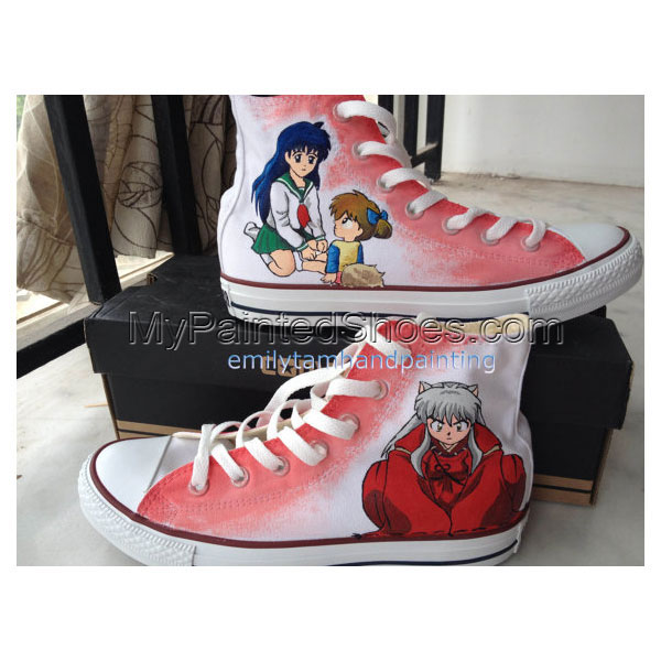 8a19567b5e Inuyasha Sneakers Custom Anime Shoes Hand Painting Sneakers for