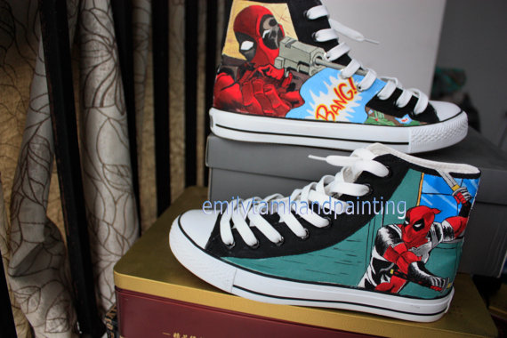 550e436488f High-top Painted Canvas Shoes : Hand Painted Canvas Shoes, Custom ...