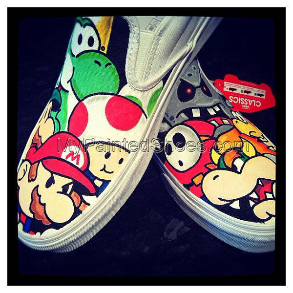 Super Mario Shoes Custom Super Mario Hand Painted Shoes
