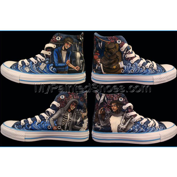 donnie darko custom Shoes High-top Painted Canvas Shoes