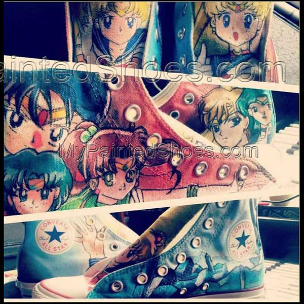 Sailor Moon Sheos Sailor Moon Custom Shoes for women