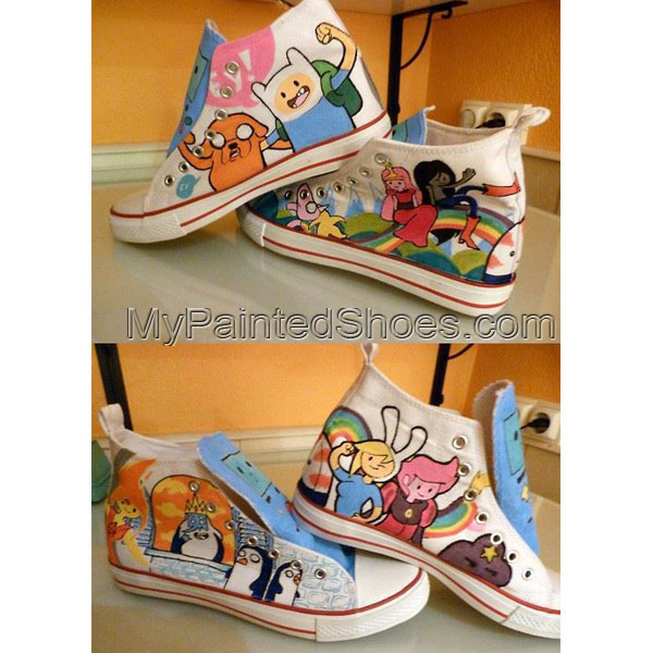 custom sneakers adventure time sneakers