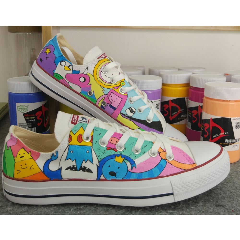 custom painted sneakers adventure time sneakers-3