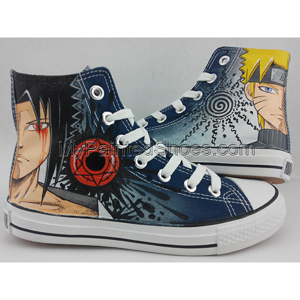 Converse All Star Sneakers Naruto Anime Painted Canvas Shoes-1