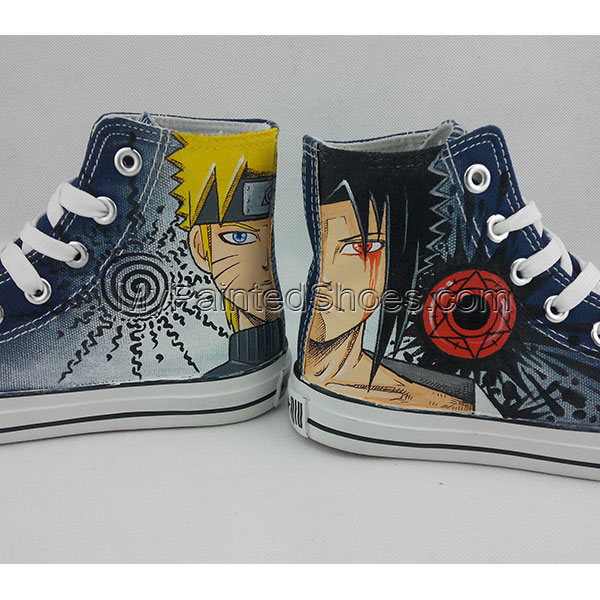 Converse All Star Sneakers Naruto Anime Painted Canvas Shoes-2