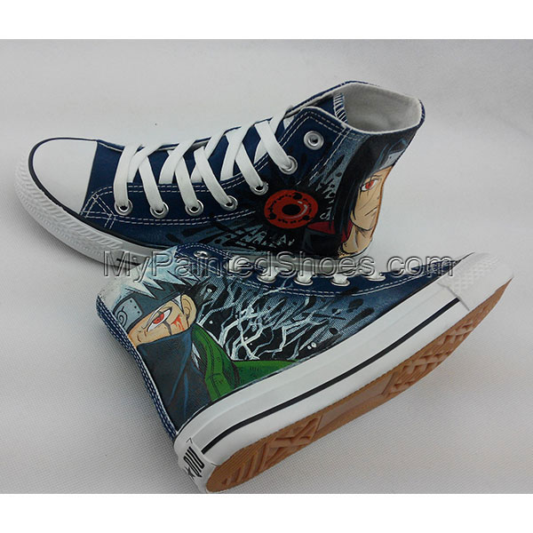 Converse All Star Sneakers Naruto Anime Painted Canvas Shoes-5