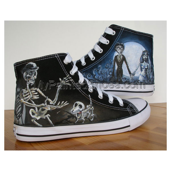Custom Hand Painted Shoes Corpse Bride CHARACTER SHOES
