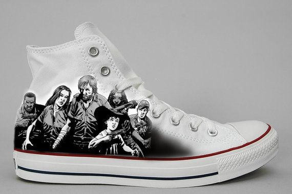 Custom Hand painted shoes Walking Dead-1