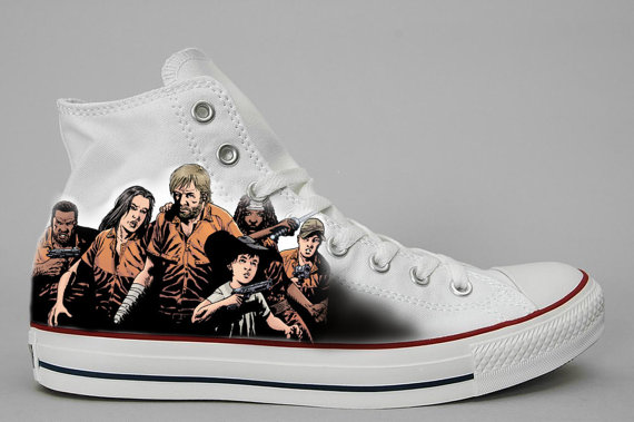 Custom Hand painted shoes Walking Dead-2