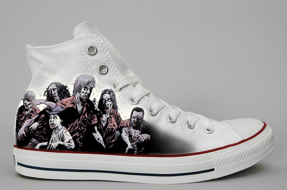 Custom Hand painted shoes Walking Dead-3
