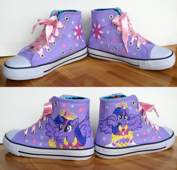 Hand painted  My Little Pony shoes, Princess Twilight Sparkle-1
