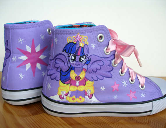 Hand painted  My Little Pony shoes, Princess Twilight Sparkle-2
