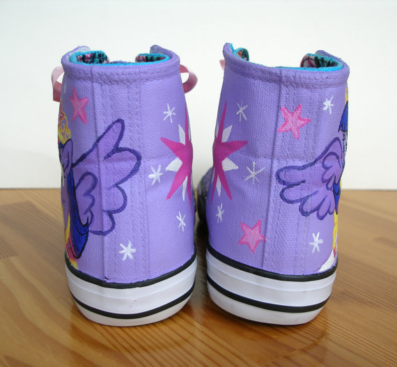 Hand painted  My Little Pony shoes, Princess Twilight Sparkle-4