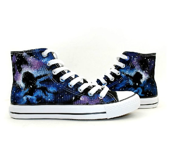 hand painted shoes-galaxy shoes-Custom painted shoes-100% handma-1