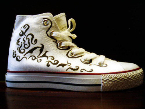 Hand Painted All Star Shoes Abstract Pattens-1