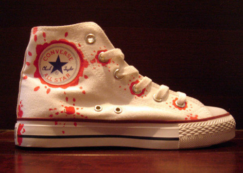 Hand Painted All Star Shoes Abstract Pattens-2