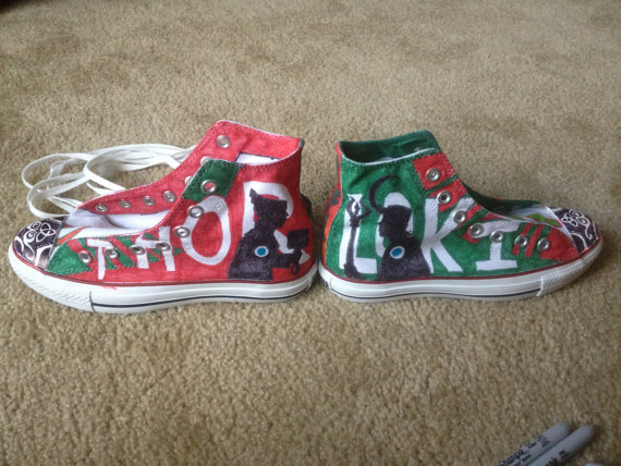 Thor and Loki custom hand painted shoes-1