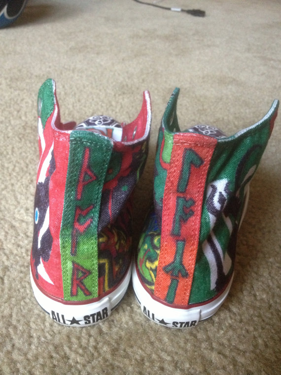 Thor and Loki custom hand painted shoes-3