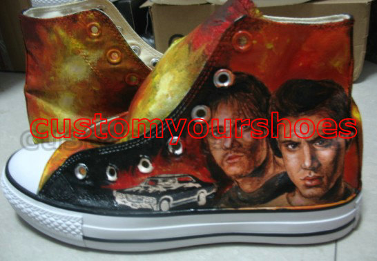 custom converse super nature handpainted shoes can do any theme -1
