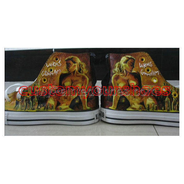 custom converse lukas graham  handpainted shoes can do any theme