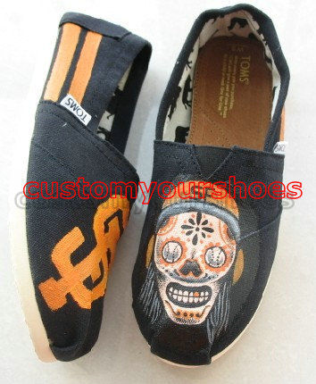 custom TOMS San Francisc giants SF giants inspired handpainted s-1